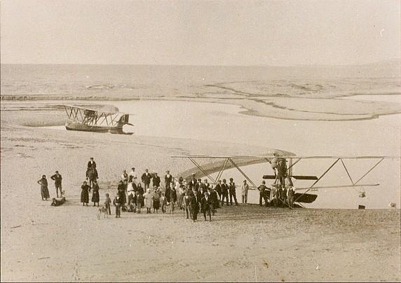 Fiume Coghinas - deltaplano negli anni 50