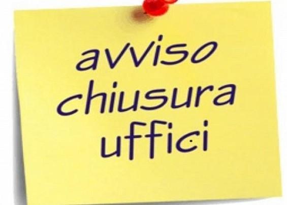 CHIUSURA AL PUBBLICO UFFICI COMUNALI DAL 09/11/2020