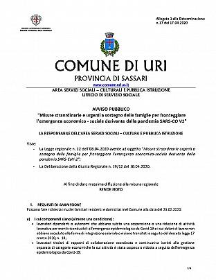 Avviso Pubblico Comune di Uri  L.R. 12.2020 Misure Straordinarie emergenza Sars.COv.19_pages-to-jpg-0001