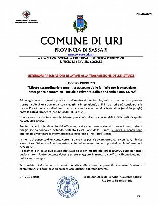 21.04.2020 ULTERIORI PRECISAZIONI RELATIVE ALLA TRASMISSIONE DELLE ISTANZE_page-0001