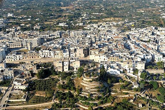 Veduta aerea del Centro Storico dalla Valle d'Itria