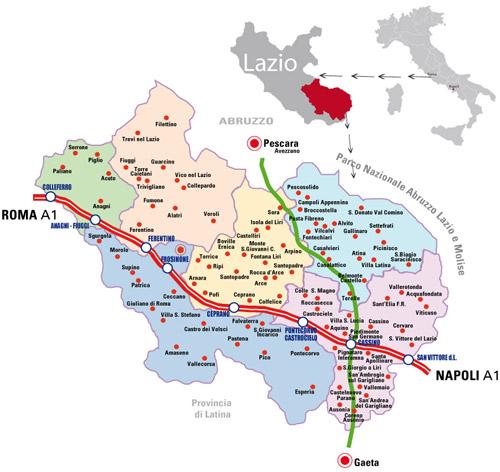 Cartina Roma E Provincia.Informazioni Sul Territorio Provincia Di Frosinone