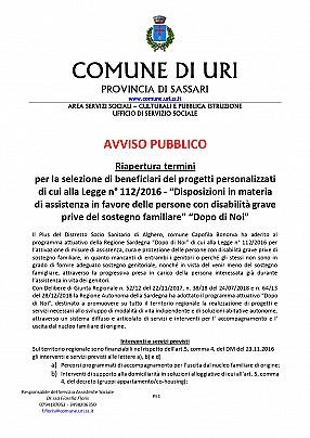 Avviso riapertura termini Istanze Dopo di Noi Comune di Uri scadenza 30.09.2020_pages-to-jpg-0001