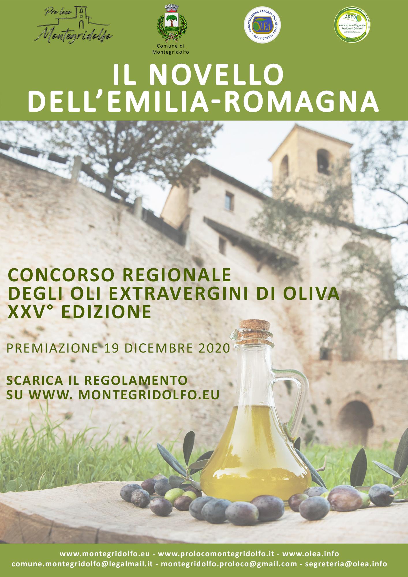 IL NOVELLO DELL'EMILIA-ROMAGNA - CONCORSO FRA OLI EXTRA VERGINI D'OLIVA DI QUALITÀ - XXV° Edizione