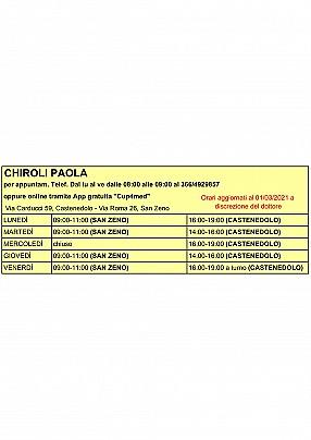 Chiroli - 01:03:2021