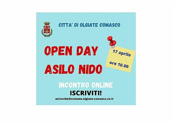 Evento on line: open day Asilo Nido Comunale