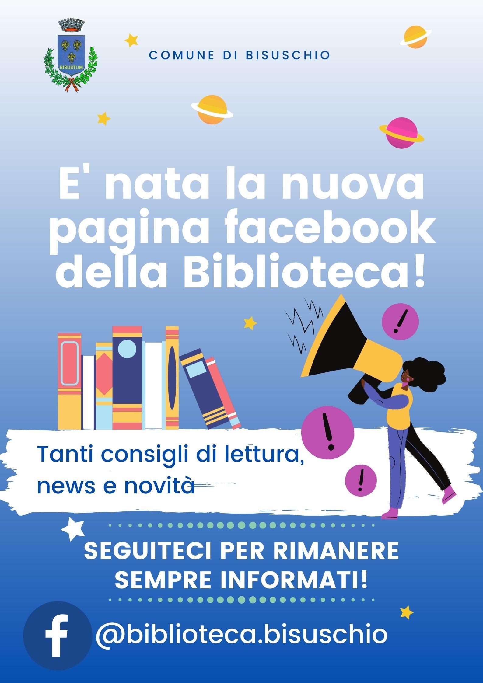 NASCE LA PAGINA FACEBOOK DELLA BIBLIOTECA