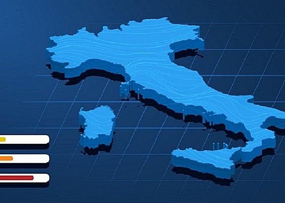 Il colore delle zone delle regioni e le misure adottate