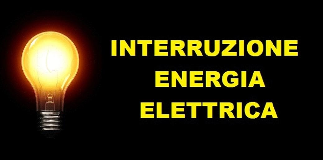ATTENZIONE: INTERRUZIONE ENERGIA ELETTRCA