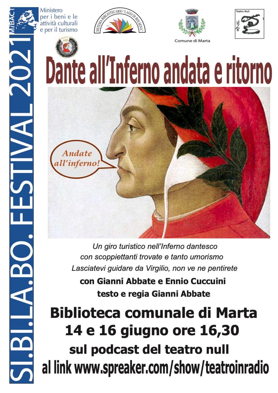 Dante all'Inferno andata e ritorno : un podcast di Gianni Abbate per i 700 anni dalla morte del Poeta