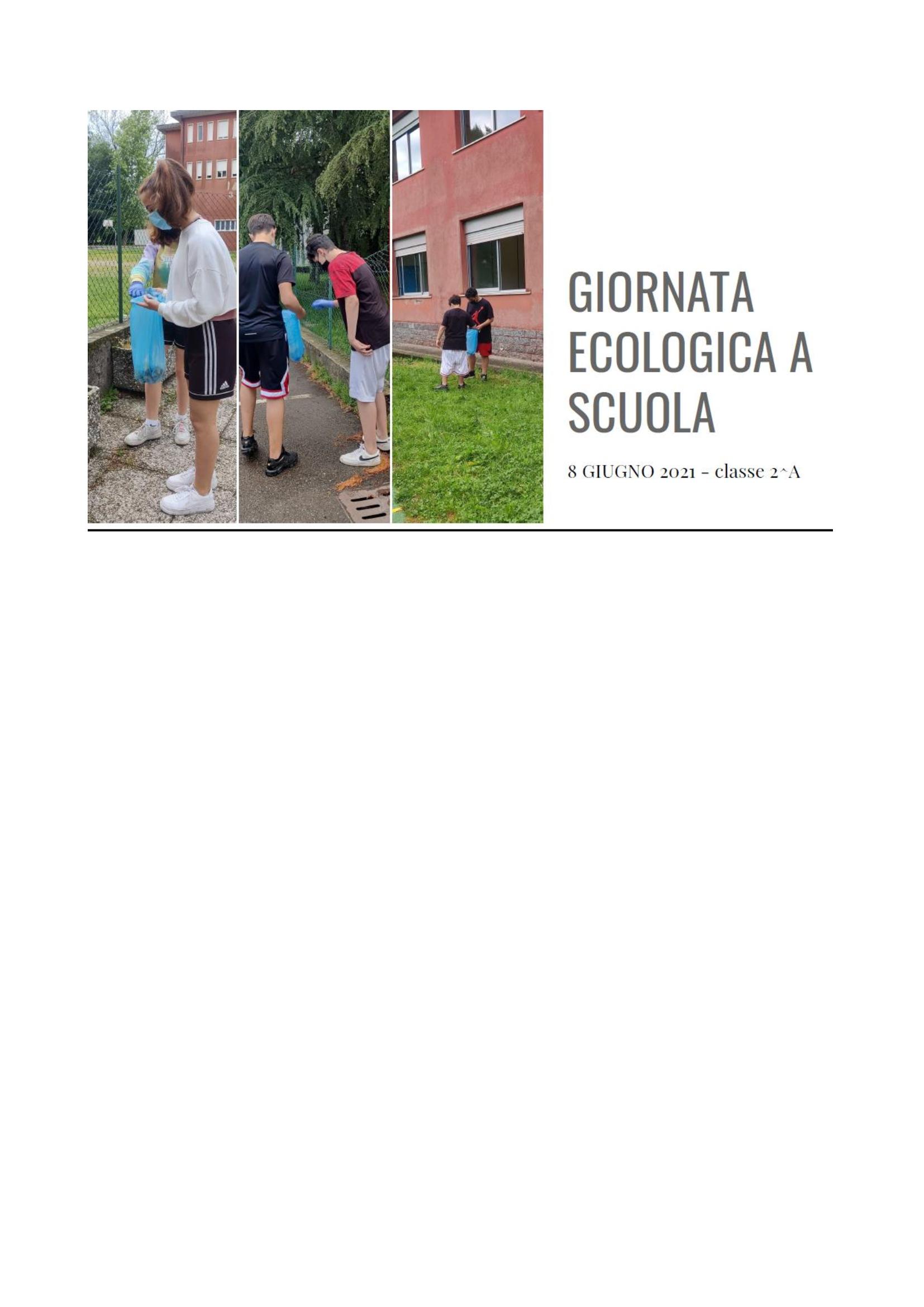 GIORNATA ECOLOGICA A SCUOLA