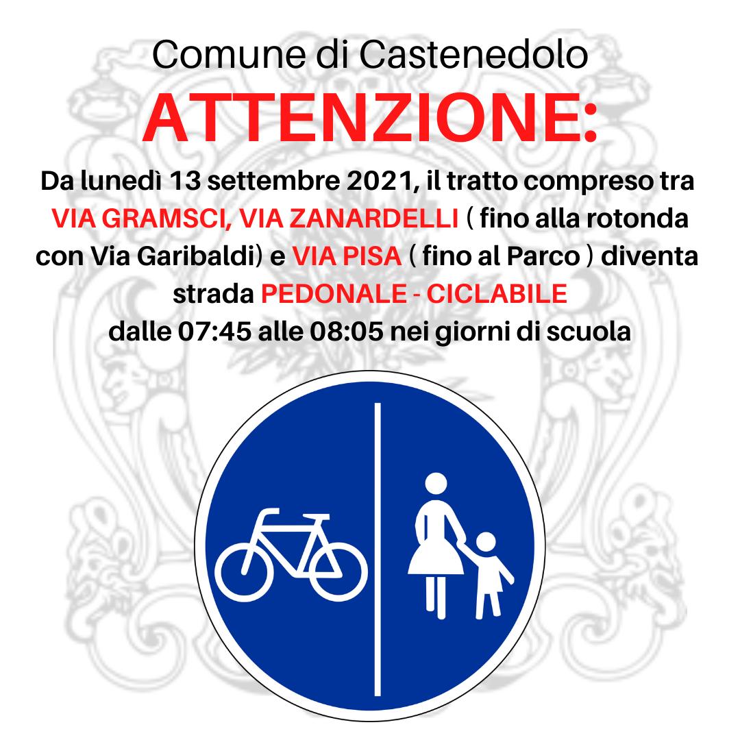 Regolamentazione del traffico di Via Pisa