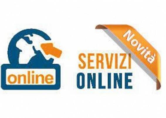 """Nuove sottosezioni nella sezione """"Servizi Online"""""""