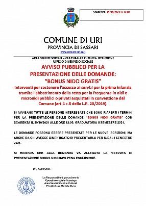AVVISO BONUS NIDO GRATIS 2021 II SEMESTRE_pages-to-jpg-0001