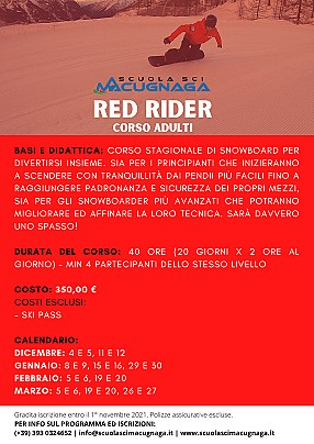 RED RIDER ADULTI