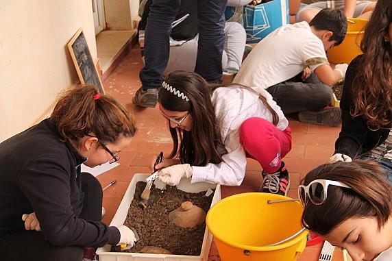 Museo Civico Archeologico_simulazione di scavo
