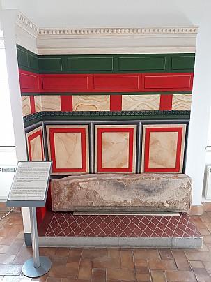 Museo Civico Archeologico_ricostruzione parete affrescata