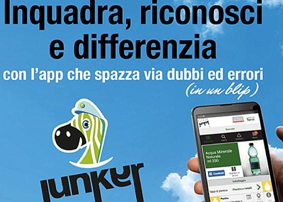 JUNKER -  L'unica App che ti dice come differenziare ogni singolo prodotto. E non solo.
